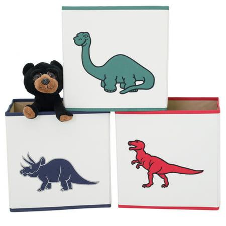 Boys Cube Bin Storage Set in Dinosaur - 3 - Dinosaur Storage Bin