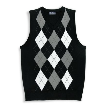 Kids V-neck Argyle Casual Sweater Vest - Boys Sweater Vest
