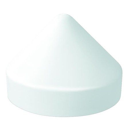 10 in. Diameter Piling Cap Round White