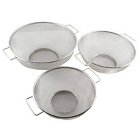 3 Piece Strainer Set - 3-Piece Mesh Colander