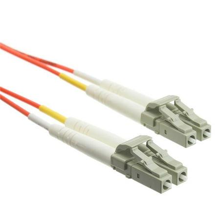 13.1 ft. LC & LC Multimode Duplex Fiber Optic Cable 10 GB - 0.4 in. & 4 m, Aqua - image 1 de 1