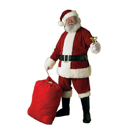 Deluxe Luxury Santa Suit - Adult Deluxe Velvet X-large Santa Suit