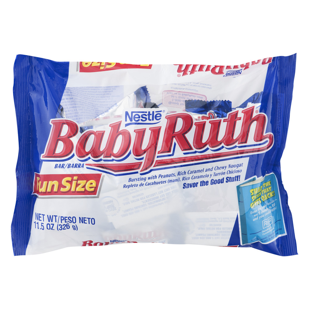 Nestle Baby Ruth Fun Size Bar, 11.5 OZ