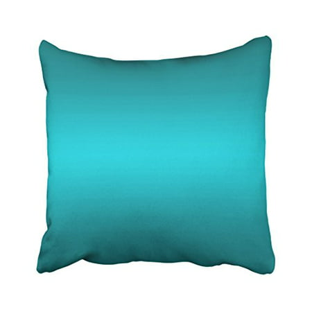 WinHome Decorative Decors Dark and Light Aqua Blue Gradient - Turquoise Pillow Case Cushion Cover Home Sofa Decorative Case Cushion Cover Home Sofa Decorative Size 18x18 inches Two Side ()