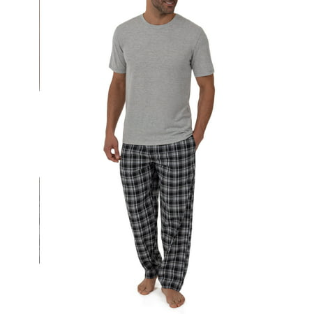 Fruit of the Loom Big & Tall Men's Breathable Mesh Top with Woven Pant Pajama Set (Mens Pajama Tops Xxxl)