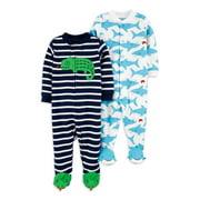 Child of Mine by Carter's Baby Boy Interlock Cotton Sleep 'N Play Pajamas, 2-Pack