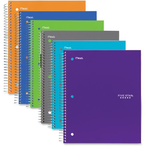 "Mead 1-Subject Trend Notebook - 100 Sheets - Printed - Wire Bound 8.50"" x 11"" - White Paper - Assorted Cover - Poly Cove"