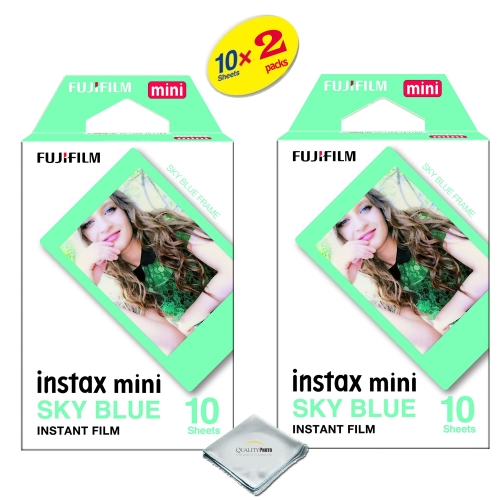 fujifilm instax mini 8 instant film 2-PACK (20 Sheets) Rainbow