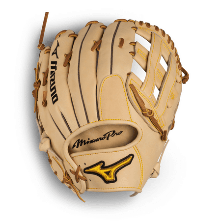 "Mizuno 12.75"" Pro Series Outfield Baseball Glove, Right Hand Throw"