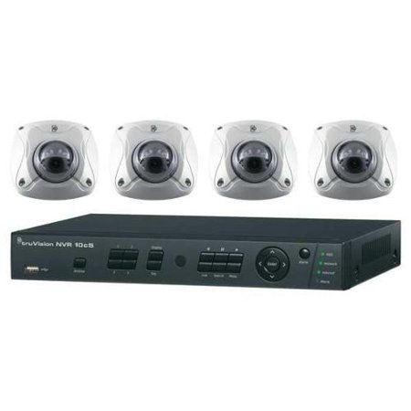 INTERLOGIX TVN-1004-KW1 Net Video Rcdr Kit,4 Chan, IR Bullet Cams G1599608
