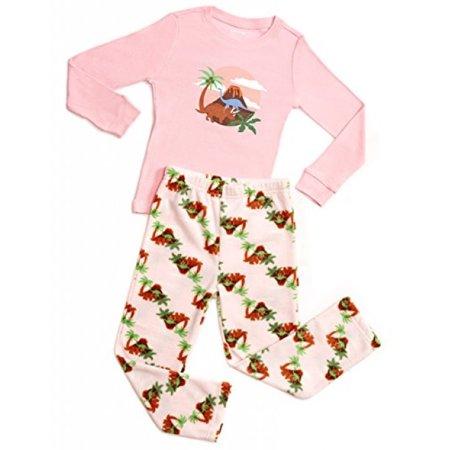 Fleece & Cotton 2 Piece Pajama Dinosaur Girl 6 Years](Adult Dinosaur Pajamas)