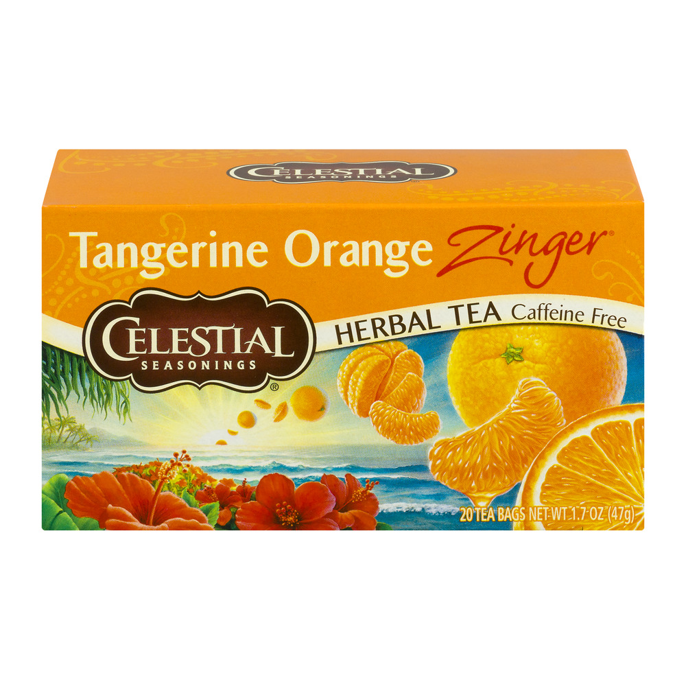Celestial Seasonings Tangerine Orange Zinger Herbal Tea - 20 CT