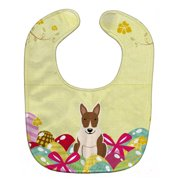 Carolines Treasures BB6137BIB Easter Eggs Bull Terrier Brindle Baby Bib