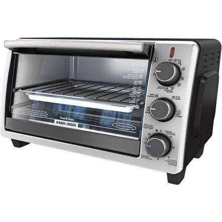 BLACK+DECKER  6-Slice Toaster Oven, Black, TO1950SBD