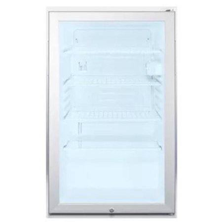 - Summit SCR450LADA 4.1 Cu. Ft. Stainless Steel Undercounter Compact Refrigerator