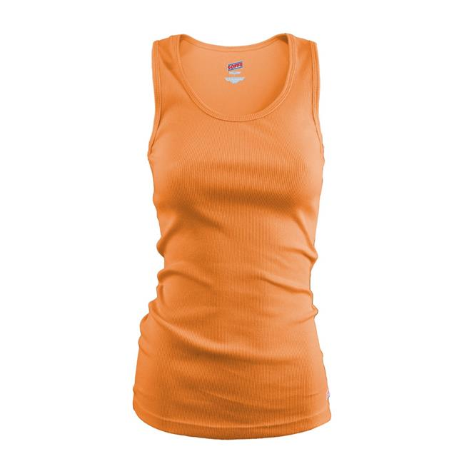 Juniors Basic Rib Knit 100 Percent Cotton Tank, Tenn Orange - Medium - image 1 of 1