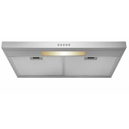 "AKDY 30"" Under Cabinet Stainless Steel Push Panel Kitchen Range Hood Cooking Fan w/ Carbon Filters"