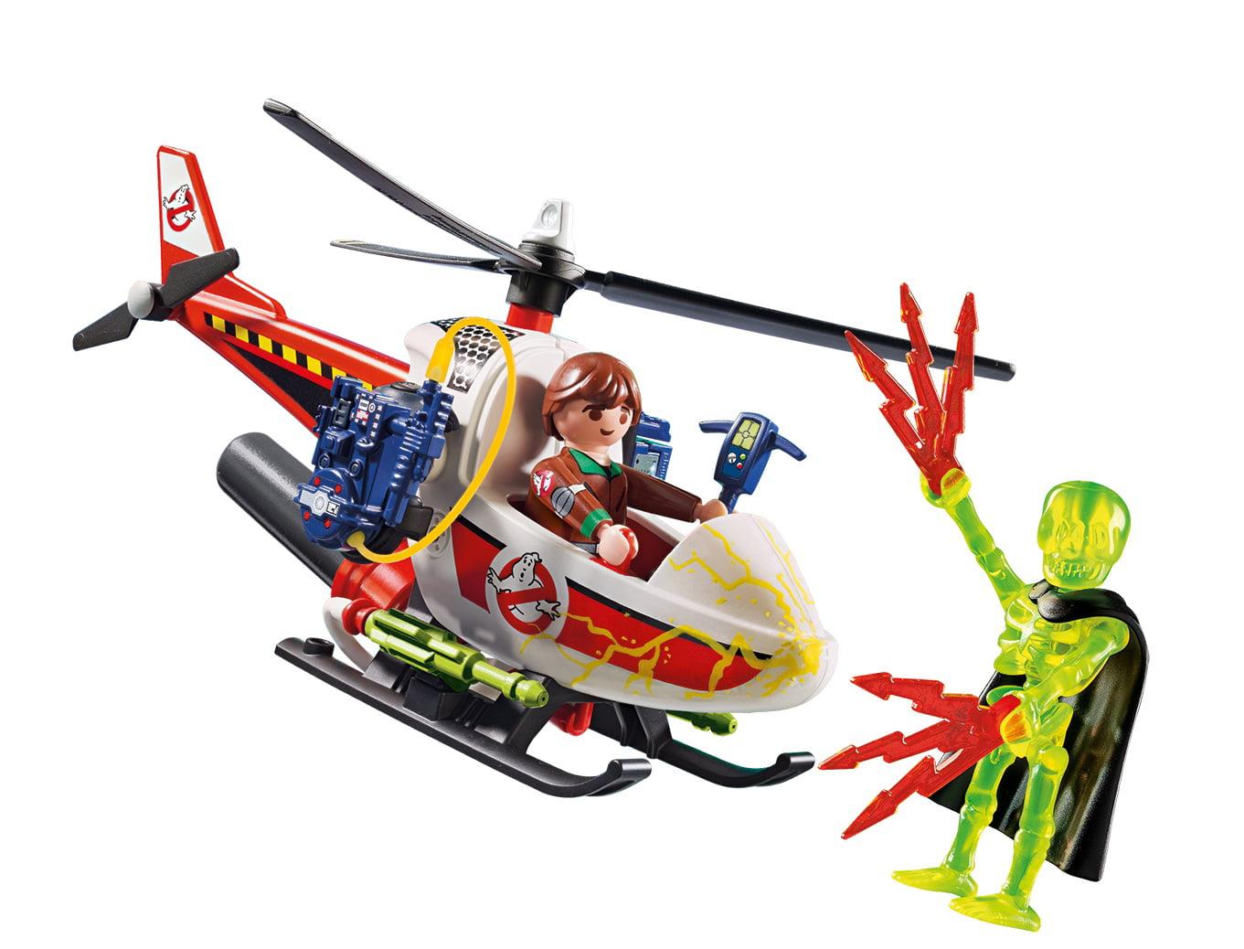 PLAYMOBIL The Real Ghostbusters Venkman with Helicopter by PLAYMOBIL