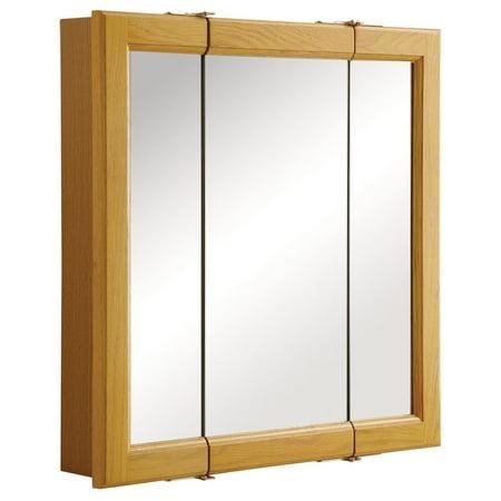 Design House 545277 Claremont Tri-View Medicine Cabinet Mirror 24