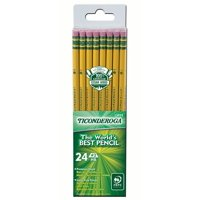 Ticonderoga Pencil, 24 Count, Unsharpened