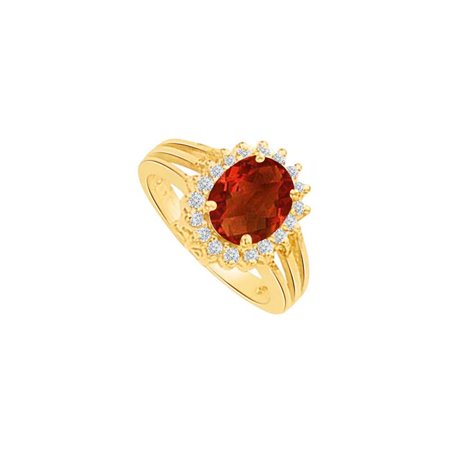Heart Stealer Garnet & CZ Floral Design Ring Gold Design Garnet Ring