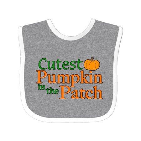 Cutest Pumpkin in the Patch Baby Bib - Baby In Pumpkin