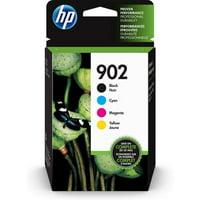 HP 902 Black, Cyan, Magenta, & Yellow Original Ink, 4 Cartridges (X4E05AN)