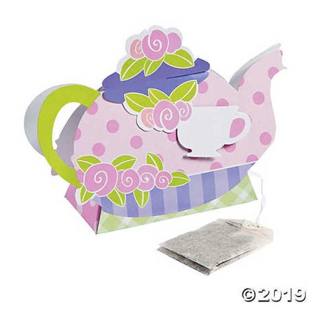 Tea Party Die Cut Favor Boxes