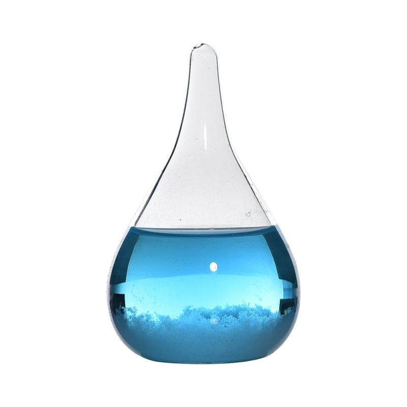 ChYoung Storm Glass Weather Predictor Forecast Bottle Water Drop Transparent Crystal Glass Barometer Weather Station Home Decoration