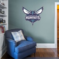 Fathead Charlotte Hornets: Logo - Giant Officially Licensed NBA Removable Wall Decal