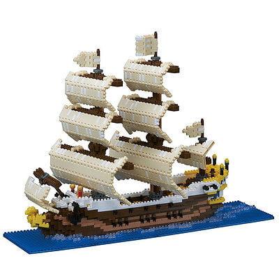 Sailing Ship Nanoblocks Micro-Sized building block construction toy Kawada NB030 by Kawada