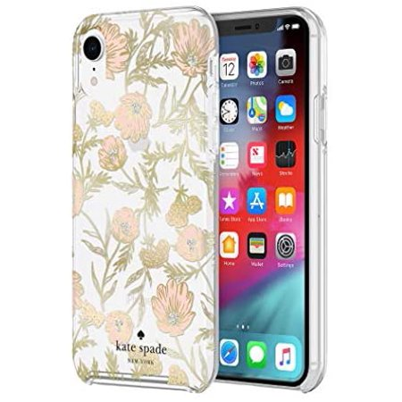 Kate Spade Protective Hardshell Case Blossom Foil for iPhone XR Case for iPhone XR - Gold - image 1 of 5