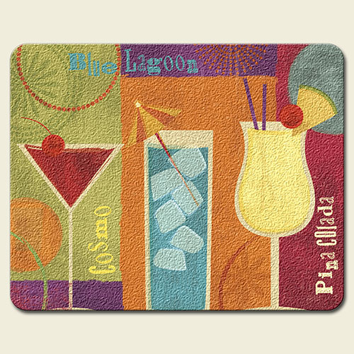 Cocktail Party Cosmo Pina Colada Glass Cutting Board
