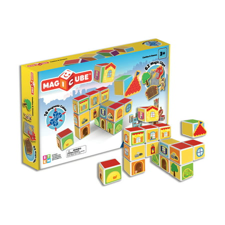 Geomag Magicube - Castles & Homes - 16 Piece Magnetic Building Blocks