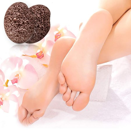 Image of 2 Pack Pumice Stone for Feet, Hands, Heel, Toes - Foot Scrubber, Exfoliator, Sander for Dead, Dry & Cracked Skin - Corn & Callus Remover