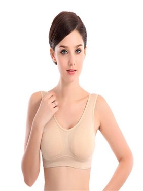 c4939fe9044d4 Product Image Womens Thin No Mat Athletic Vest Fitness Sports Yoga Stretch  Bra FL XL
