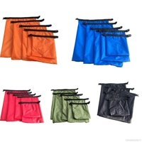 5pcs Waterproof Dry Bag Outdoor Beach Buckled Storage Sack Travel Drifting Swimming Snorkeling Bags Accessories