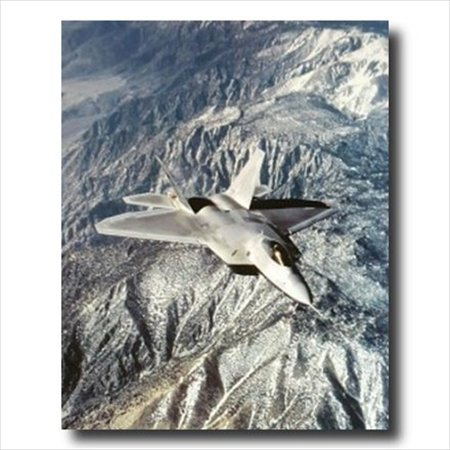 FA 22 Raptor Aircraft Jet Airplane Wall Picture Art (Airplane Art Print)
