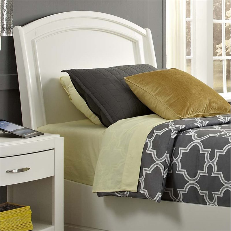 Liberty Furniture Avalon II Full Panel Headboard in White Truffle