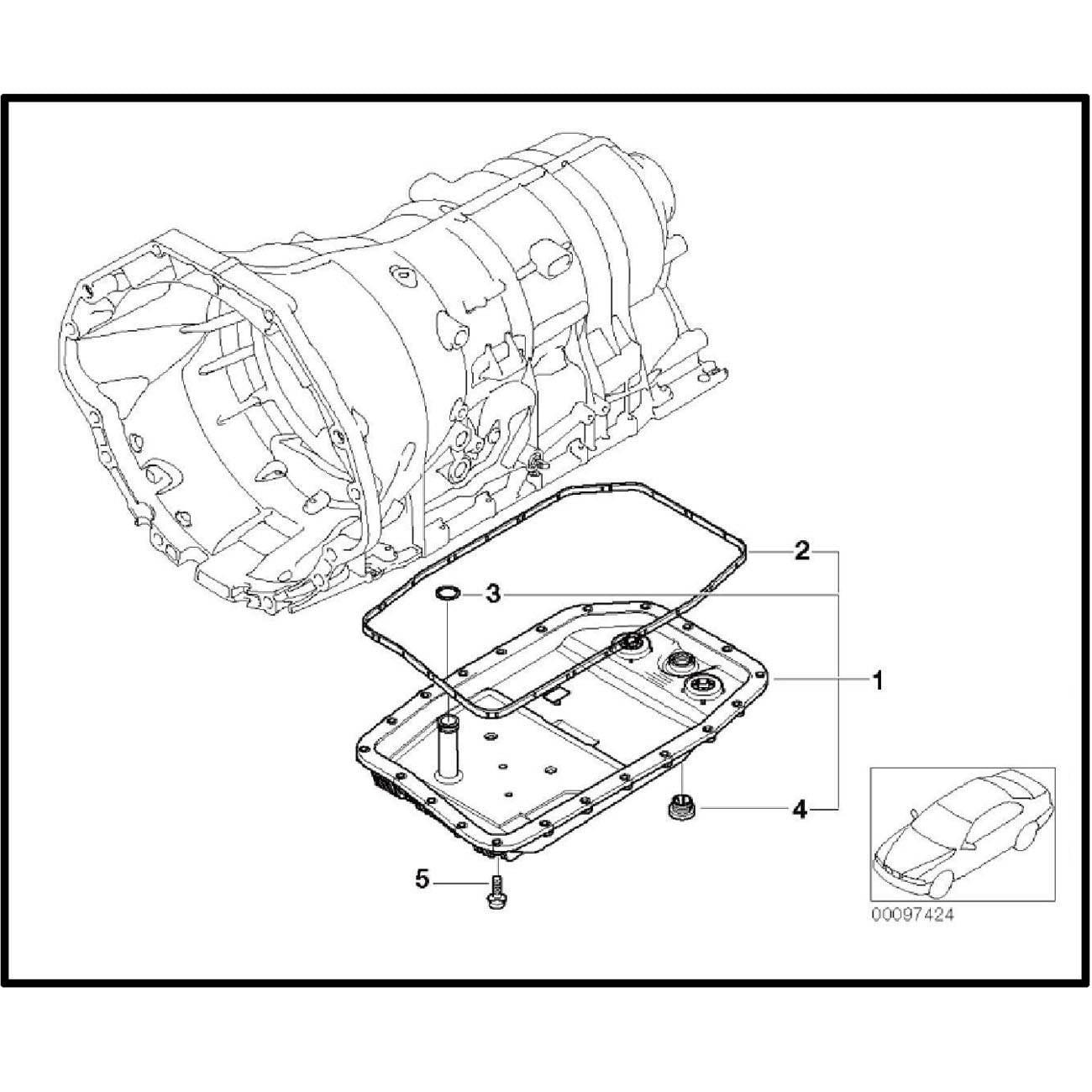 Bapmic 6hp26 Auto Transmission Oil Filter Pan Repair Kit For Bmw