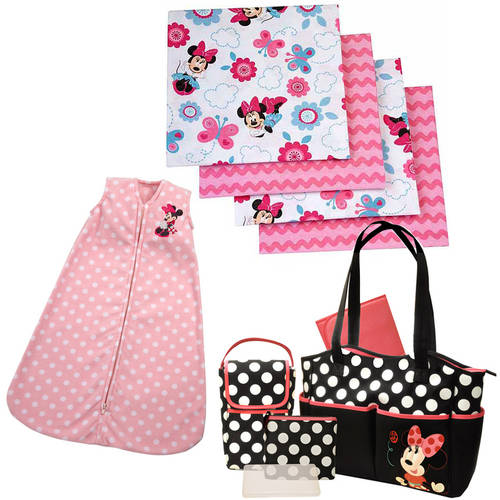 Minnie Mouse Diaper Bag and Blanket Value Bundle