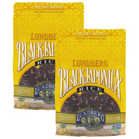 (2 Pack) Lundberg Black Japonica Rice, 16oz