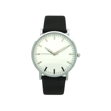 Geneva Olivia Pratt Women's Minimalist Leather Watch