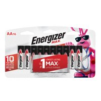 Energizer MAX Alkaline, AA Batteries, 16 Pack