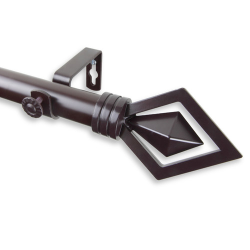 Rod Desyne Lenore Single Curtain Rod and Hardware Set by