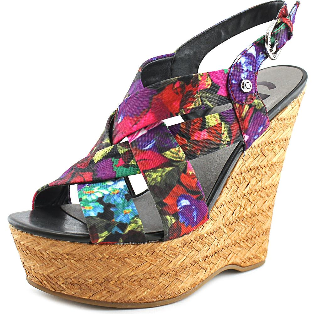 G By Guess Havana 2   Open Toe Canvas  Wedge Sandal