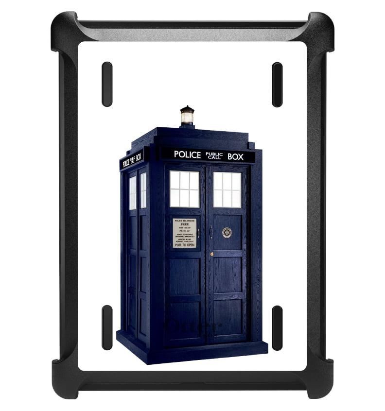 CUSTOM Black OtterBox Defender Series Case for Apple iPad Air 1 (2013 Model) - TARDIS Police Call Box