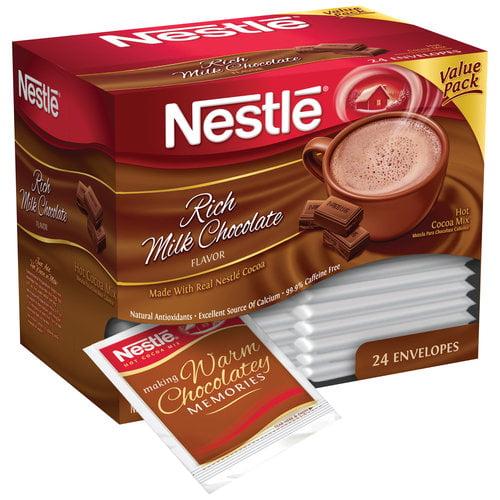 Nestle Rich Milk Chocolate Hot Cocoa Mix, 24 count, 17.1 oz