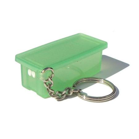 Sheer Green Mini FridgeSmart Collectible Keychain, Tupperware Sheer Green Mini FridgeSmart Novelty Collectible Keychain By Tupperware