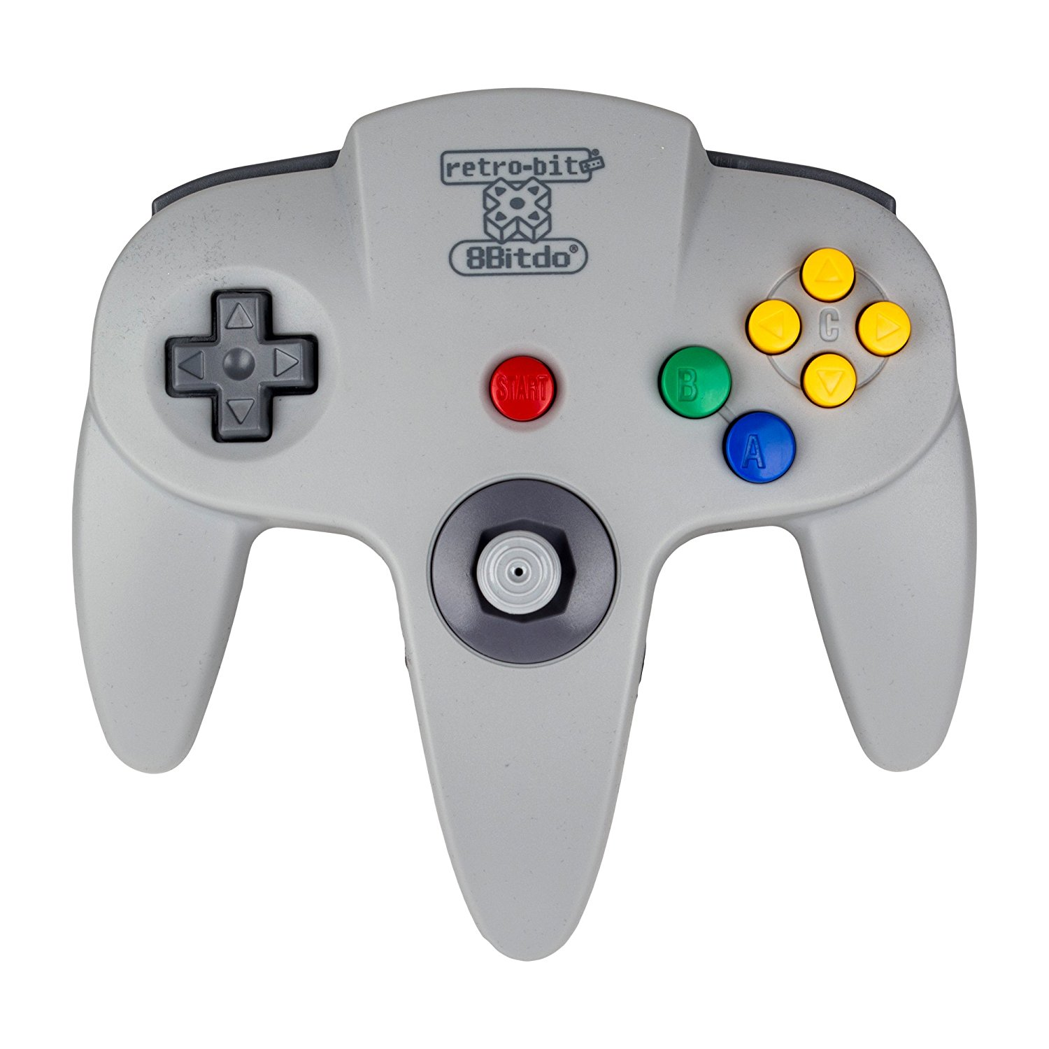 retro-bit rb-8bd-6584 Wireless Bluetooth N64 controller for Andoroid iOS and PC Grey